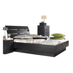 Tvilum - Tvilum Scottsdale Platform Bed in Black Woodgrain-Full - Tvilum - Beds - 7624661 -