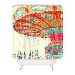 DENY Designs - Shannon Clark Swinging Shower Curtain - Who says bathrooms can't be fun? To get the most bang for your buck, start with an artistic, inventive shower curtain. We've got endless options that will really make your bathroom pop. Heck, your guests may start spending a little extra time in there because of it!