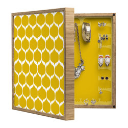 DENY Designs - Andrea Victoria Secret Garden Pattern BlingBox Petite - Handcrafted from 100% sustainable, eco-friendly flat grain Amber Bamboo, DENY Designs BlingBox Petite measures approximately 15 x 15 x 3 and has an exterior matte cover showcasing the artwork of your choice, with a coordinating matte color on the interior. Additionally, the BlingBox Petite includes interior built-in clear, acrylic hooks that hold over 120 pieces of jewelry! Doubling as both art and an organized hanging jewelry box, It's bound to be the most functional (and most talked about) piece of wall art in your home! Custom made in the USA for every order.