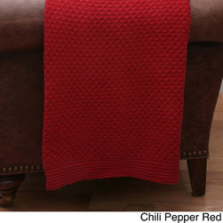 Thro - Cecily Chenille Jacquard 50x60-inch Knit Throw - Keep yourself warm in the cozy Cecily chenille jacquard throw blanket. This 60 inches long x 60 inches wide blanket is available in a variety of colors that will complement your current decor.  Hand wash for care.
