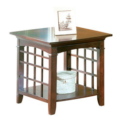 Standard Furniture - Standard Glasgow End Table with Shelf in Chocolate Cherry Finish - Standard Furniture - End Tables - 50312