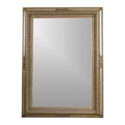 Bassett Mirror - Beveled Leaning Floor Mirror in Silver Leaf C - Add instant elegance to your home with this traditional beveled floor mirror, a beautiful, full-length piece designed to be a fashionable, functional addition to your space. The wide mirror is 90 inches long and 66 inches wide and will be a bold, dramatic design element. Decorative mirror. 66 in. L x 90 in. H (153 lbs.)