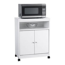 Counter Height Microwave Cart : Ameriwood - Microwave Cart - Features: -Ample storage space behind two ...