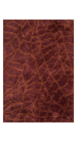 """Loloi Rugs - Loloi Rugs Garden Shag Collection - Red / Rust, 3'-6"""" x 5'-6"""" - Introducing one of our most inventive collections; the first-ever indoor/outdoor shag. Hand woven in India of 100% polyester, Garden Shag offers the same softness and textural appeal of our other shag collections, except this yarn is treated to withstand all of mother nature's elements including sunshine, rain, and dirt. And because the look is so versatile, Garden Shag looks equally at home as an easy-to-clean rug in the dining room or sunroom as it does outdoors."""