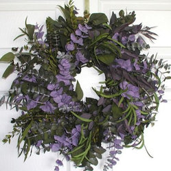 17 in. Purple Haze Wreath