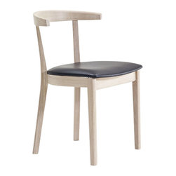Skovby - Solid Beech and Leather Dining Chair - Who knew simplicity could be so stunning? With versatile style, sturdy joinery and a curved open back for excellent support, this dining chair combines super strength and crazy comfort in one simple — and simply beautiful — seat.