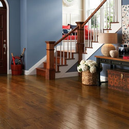 American Scrape Hardwood  - Hickory - Autumn Blaze - This stunning hardwood collection is inspired by the beauty of the American landscape.