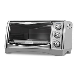 Black & Decker - Black & Decker Stainless Steel 6-Slice Countertop Convection Oven - This 6-slice convectional oven from Black & Decker features a variety of settings including broil,convection bake,toast,and warm. It's convenient design can bake a generous amount of food ranging from a tall roast to a full 12-inch pizza.