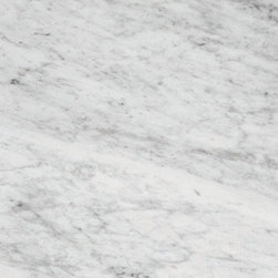 White Carrara Polished Marble Tile - Weight5.3812 lbs