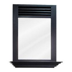 Hardware Resources - Lindley Bath Elements Mirror 25-1/2 x 3-1/2 x 30 - 25 1/2 x 30 Espresso mirror with 4 shelf and beveled glass