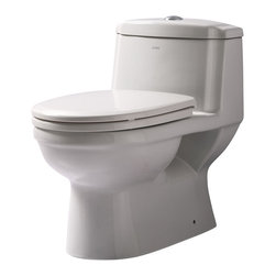 EAGO - EAGO TB222 One Piece Dual Flush Ultra Low Flush Eco Friendly White Toilet - We are very excited to offer you this top of the line brand of eco-friendly low consumption modern smart toilets. Join the latest fashion trend with EAGO's innovative line of green products.