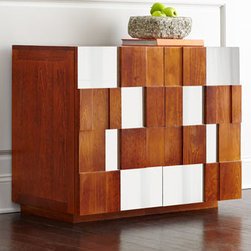 Horchow - Hannalee Chest - The best of both worlds, this captivating chest offers a patchwork of stained wood and mirrored glass for a look that works well in both modern and contemporary settings. But don't limit the possibilities; it brings a nice casual note to more formal set...