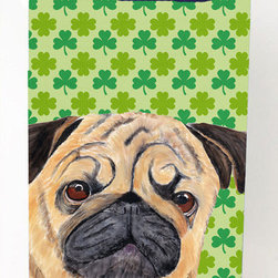 Caroline's Treasures - Pug St. Patrick's Day Shamrock Portrait Michelob Ultra Koozies for slim cans - Pug St. Patrick's Day Shamrock Portrait Michelob Ultra Koozies for slim cans SC9291MUK Fits 12 oz. slim cans for Michelob Ultra, Starbucks Refreshers, Heineken Light, Bud Lite Lime 12 oz., Dry Soda, Coors, Resin, Vitaminwater Energy, and Perrier Cans. Great collapsible koozie. Great to keep track of your beverage and add a bit of flair to a gathering. These are in full color artwork and washable in the washing machine. Design will not come off.