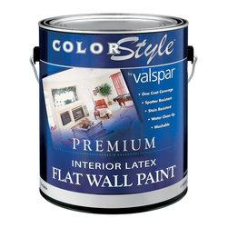 Valspar - Valspar 1 Gallon White Color Style Interior Latex Flat Wall Paint (4-Pack) - Valspar 44-26300 GL 1 Gallon White Color Style Interior Latex Flat Wall Paint , White
