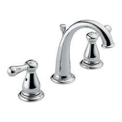 Delta - Delta 3575LF Leland Two Handle Widespread Lavatory Faucet (Chrome) - The Leland collection features a chess-piece like design and modern style, giving your home a beautiful touch.