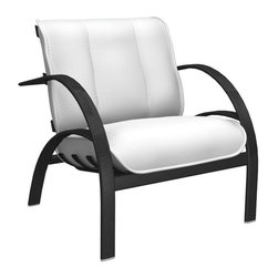 Homecrest - Homecrest Bellaire Mid Back Chat Chair - B3960-03-JASPER - Shop for Chairs and Sofas from Hayneedle.com! When you see the Homecrest Bellaire Mid Back Chat Chair you may ask yourself why chat? Well have you ever tried to have an intense and thought provoking conversation while being massaged into semi-consciousness by your chair? Chat is the highest level of interaction your blissed-out self will be able to handle. Under those appealing Eames-ian curves is a body of rust-proof aluminum covered with a baked-on powder coat finish in your choice of classic hues. Both the seat and back cushions are filled with firm supportive foam with an exterior of layered outdoor fabrics. These fabrics are offered in a range of color and style options so don't hesitate to put together the combination that's going to make your patio sing.About Homecrest:The Homecrest brand was founded in 1953 as the offspring of a retail furniture shop in Wadena Minnesota when Mert Bottemiller and Al Engelmann set out to offer the market a better ottoman than those offered by their competitors. This venture soon led to their first line of patio furniture and in 1956 Bottemiller patented the swivel rocker mechanism that is still a central part of the products they produce today from their plant in Minnesota. For almost 60 years the Homecrest brand has been the go-to name for quality outdoor furniture when customers want a sophisticated versatile style that complements their interior decor and expands their lifestyles outside.