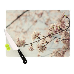 "Kess InHouse - Catherine McDonald ""Japanese Cherry Blossom"" Cutting Board (11.5"" x 15.75"") - These sturdy tempered glass cutting boards will make everything you chop look like a Dutch painting. Perfect the art of cooking with your KESS InHouse unique art cutting board. Go for patterns or painted, either way this non-skid, dishwasher safe cutting board is perfect for preparing any artistic dinner or serving. Cut, chop, serve or frame, all of these unique cutting boards are gorgeous."