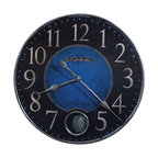 "Howard Miller - Howard Miller Harmon II 26-1/4"" Oversized Wall Clock in Cobalt Blue - 625568 Harmon II"