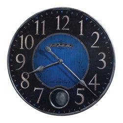 "Howard Miller - Howard Miller Harmon II 26-1/4"" Oversized Wall Clock in Cobalt Blue - 625568 Harmon II"