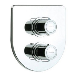 Nameeks - Ramon Soler by Nameeks US-2684 Thermostatic Shower Mixer - RAMON SOLER US-2684 - Shop for Shower Hardware from Hayneedle.com! Complete your new bathroom decor with a control-station with theRoman Soler by Nameeks US-2684 Thermostatic Shower Mixer. This compact unit fits in with nearly any decor style and features an easy-to-use design built from solid durable brass. Two knob handles ensure you'll have complete control over the water's temperature mix and flow-rate while the thermostatic style makes sure you'll never be troubled by scalding due to temperature shifts or pressure changes. Rust tarnish and corrosion are prevented thanks to a beautiful polished chrome finish. This Spanish-made piece boasts a cutting-edge modern look that's at home with any contemporary bathroom.About NameeksFounded with the simple belief that the bath is the defining room of a household Nameeks strives to design a bath that shines with unique and creative qualities. Distributing only the finest European bathroom fixtures Nameeks is a leading designer developer and marketer of innovative home products. In cooperation with top European manufacturers their choice of designs has become extremely diversified. Their experience in the plumbing industry spans 30 years and is now distributing their products throughout the world today. Dedicated to providing new trends and innovative bathroom products they offer their customers with long-term value in every product they purchase. In search of excellence Nameeks will always be interested in two things: the quality of each product and the service provided to each customer.