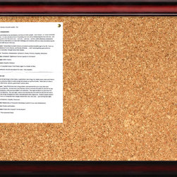Amanti Art - 'Rubino Cork Board - Medium' Framed Art Print 27 x 19-inch - A beautifully framed cork board turns everyday notes and messages into an ever evolving work of art. This Rubino Cork Board features a rich cherry wood colored frame with a gently sloping design.