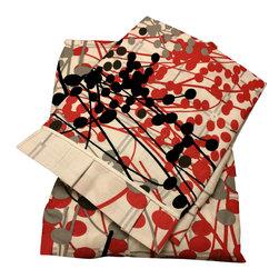raziascloset - Vibrant Contrast - 100% Cotton Flat Bedsheet - Queen - 100% Cotton Flat Bedsheet set with 2 sided frills and 2 Pillow cases with 4 sided frills, Queen size