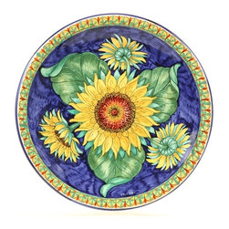 "Ceramic - Tuscan Sunflowers 16"" Large Decorative Plate - Tuscan Sunflowers Large Decorative Plate"