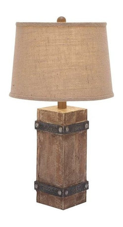 "Benzara - Classy Wooden Table Lamp and Beautiful Shade Design - Classy Wooden Table Lamp and Beautiful Shade Design. Epitomizing efficiency and expert craftsmanship, you can experience effective lighting during bedside reading sessions and this amazing table lamp! It comes and following dimensions 6""W x 6""D x 26""H."