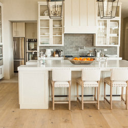 Lake House - This wide plank European Oak runs the entire room. We install a lot of wood in the kitchen.