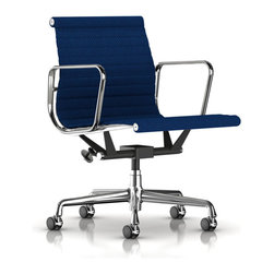 Herman Miller - Herman Miller Eames Aluminum Management Chair, Fabric - Herman Miller Eames Aluminum Management Chair Fabric Upholstery by Charles and Ray Eames The Eames Aluminum Group Management Chair is an all time classic and one of the most important contributions that the Eames's made to modern design. This chair has a minimalist feel and a sleek look that combine to give it one of the most iconic looks among mid-century pieces. In addition to its beauty the Eames Aluminum Management Chair is adjustable to your needs and adaptable to almost any situation, whether it be an office, boardroom or even your home. The fabric upholstery options offer a more affordable version of this iconic Eames Chair without sacrificing beauty or style.