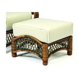Woodard - Ottoman - Belmar - All products are made to order. Orders cannot be cancelled after 5 calendar days. If order is cancelled after 5 calendar days, a 50% restocking fee will be applied. Wicker frame. Seat Height: 17.8 in. H. 24 in. D x 26.5 in. W x 13.8 in. H