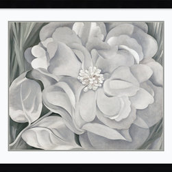 Amanti Art - The White Calico Flower, 1931 Framed Print by Georgia O'Keeffe - A perennial favorite. Anything from Georgia O'Keeffe's garden of floral images will make a striking addition to your wall. This print is professionally framed and matted for maximum effect, so you need do nothing more than find the ideal spot to plant it.