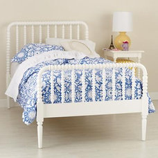 Kids' Beds: Kids White Spindle Jenny Lind Bed in Beds