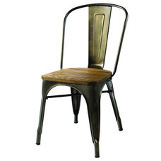 Rustic Dining Chairs Rango Distressed Bronz Side Chair