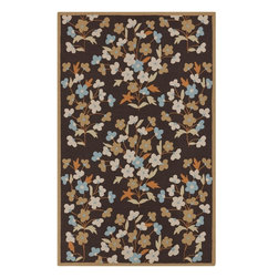 Surya - Surya Cannes Brown Indoor/Outdoor Polyester Rug, 8' x 10' - Material: 100% PolyesterCare Instructions: Blot Stains