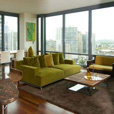 Modern Family Room by Jacqueline Zinn