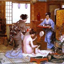 """Marie-Francois Firmin-Girard The Japanese Toilette - 16"""" x 20"""" Premium Archival - 16"""" x 20"""" Marie-Francois Firmin-Girard The Japanese Toilette premium archival print reproduced to meet museum quality standards. Our museum quality archival prints are produced using high-precision print technology for a more accurate reproduction printed on high quality, heavyweight matte presentation paper with fade-resistant, archival inks. Our progressive business model allows us to offer works of art to you at the best wholesale pricing, significantly less than art gallery prices, affordable to all. This line of artwork is produced with extra white border space (if you choose to have it framed, for your framer to work with to frame properly or utilize a larger mat and/or frame).  We present a comprehensive collection of exceptional art reproductions byMarie-Francois Firmin-Girard."""