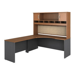 "BBF - Bush Series C 3-Piece Left-Hand Corner Computer Desk in Auburn Maple - Bush - Office Sets - WC48532PKG1 - Bush Series C 48"" Return Bridge in Auburn Maple (included quantity: 1) The Bush Series C Return Bridge offers you a refined approach to expanding your workspace. This fine return bridge merges beautifully with any Bush Series C Desk and other Series C furniture to contribute to a powerful total package.  Features:"