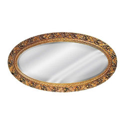 Hickory Manor House - Serpentine Oval Mirror in Bronze Finish - Vintage original. Custom made by artisans unfortunately no returns allowed. Enhance your decor with this graceful mirror. Made in the USA. Made of pecan shell resin. 45 in. W x 24 in. H (17 lbs.)