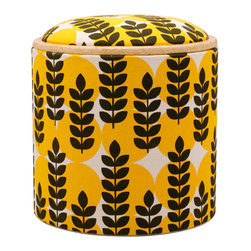 Pomada - Ears of Corn Box Ottoman - Pick the answer that best applies: My room is in dire need of: A) a footstool, B) a bench, C) a side table, D) extra storage, D) a shot of color and pattern, or E) all of the above. If you want it all — and who doesn't? — then this piece is for you. It's supremely versatile, is made from ecofriendly products and will definitely make the grade in your living space.