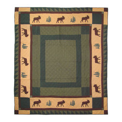 Patch Quilts - Cedar Trail Duvet Cover King 108 x 98 - - Beautifully crafted cover with intricate applique .Bedding ensemble from Patch Magic  - The Name for the finest quality quilts and accessories  - Machine washable.Line or Flat dry only Patch Quilts - DCKCEDR