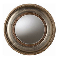 Arteriors Home - Arteriors Home Kathleen Light Wood/Silver Foil Mirror - Arteriors Home 6514 - Arteriors Home 6514 - Round mango wood beveled wall mirror in a brown rubbed finish detailed with silver foil accent.
