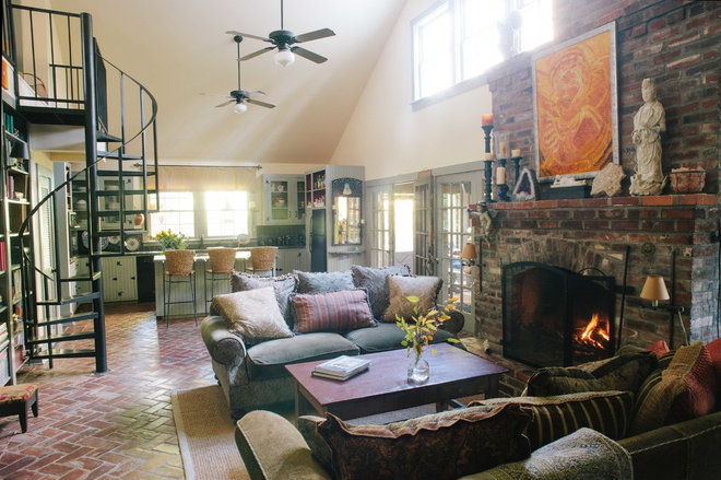 Rustic Living Room by Anna Addison Photography