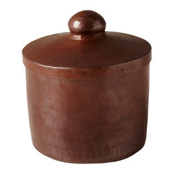 Native Trails - Copper Canister - These handcrafted and hand-hammered copper canisters have an irresistible rustic warmth. Use them to store cotton balls in the bathroom, office supplies on your desk, sugar cubes in the kitchen or anything else you can think of.