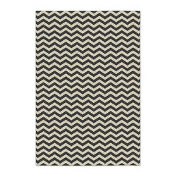 Zigzag Wool Rug, Iron - This rug is perfect for under the coffee table. I'm a huge fan of chevron.