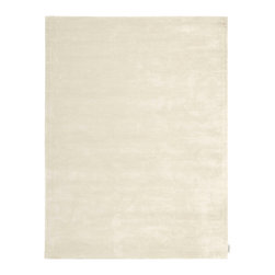 """Calvin Klein Home - Calvin Klein Home CK18 Lunar LUN1 3'6"""" x 5'6"""" Beige Area Rug 42789 - Alternating high and low-lying pile yarns highlighted in a rich semi precious purple color hues.Plush, velvet-like fibers are combined in an understated graphic manner, forming a sculptural ribbed pattern emluating the look of a tibetan rug."""