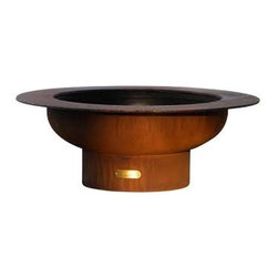"Fire Pit Art - Saturn 48"" Cabon Steel Fire Pit - The Saturn Fire Pit reminds us of its name sake planet Saturn with the spectacular ring feature in the night sky."