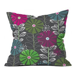Khristian A Howell Cape Town Blooms Throw Pillow - The Khristian A Howell Cape Town Blooms Throw Pillow is a piece that truly thinks outside of the box. This woven polyester pillow has an eclectic and colorful floral pattern that exudes life wherever it's tossed.About DENY DesignsDenver, Colorado based DENY Designs is a modern home furnishings company that believes in doing things differently. DENY encourages customers to make a personal statement with personal images or by selecting from the extensive gallery. The coolest part is that each purchase gives the super talented artists part of the proceeds. That allows DENY to support art communities all over the world while also spreading the creative love! Each DENY piece is custom created as it's ordered, instead of being held in a warehouse. A dye printing process is used to ensure colorfastness and durability that make these true heirloom pieces. From custom furniture pieces to textiles, everything they make is unique and distinctively DENY.