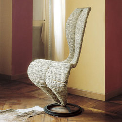 Cappellini - S Sile chair - Features: -Chair is out of a dark lacquered metal frame.-Collezione collection.-Collection: Collezione.-Upholstered: Yes .-Distressed: No.-Country of Manufacture: Italy.Dimensions: -Overall dimensions: 40.25'' H x 19.75'' W x 16.5'' D.-Overall Product Weight: 24 lbs.Warranty: -Warranty length: 2 Years.