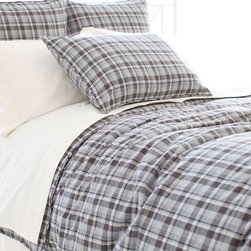 Pine Cone Hill - greyville tartan duvet cover - Create a cozy private getaway filled with the natural textures, breezy blues and casual patterns of our blakely bunkhouse bedding collection. Smart and contemporary but effortlessly down-to-earth, the graphic patterns and soft textures blend with a soothing palette to create comfortable and stylish duvet covers, sheet sets, decorative pillows and shams.